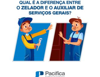 Qual é a diferença entre o Zelador e o Auxiliar de Serviços Gerais?